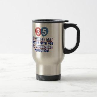 35th year old birthday gifts travel mug