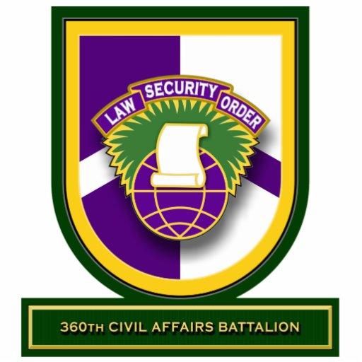 360th Civil Affairs Battalion flash Standing Photo Sculpture