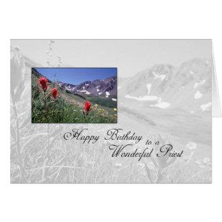 3615 Birthday Priest Mountain Flower Card