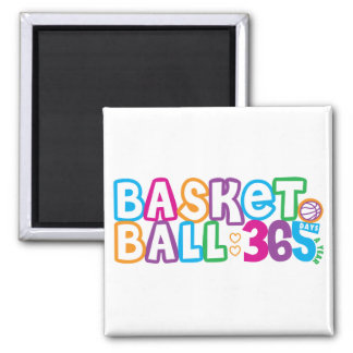 365 Basketball Square Magnet