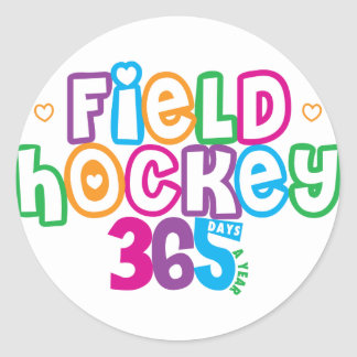 365 Field Hockey Classic Round Sticker