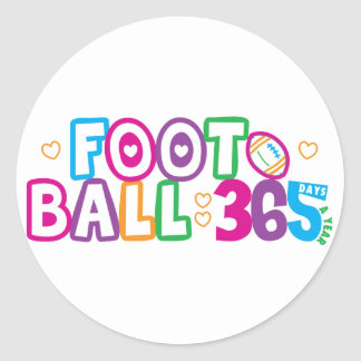 365 Football Classic Round Sticker