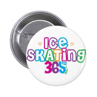 365 Ice Skating 6 Cm Round Badge