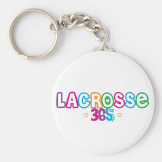365 Lacrosse Basic Round Button Key Ring