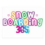 365 Snow Boarding Postcard