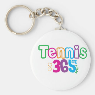 365 Tennis Basic Round Button Key Ring