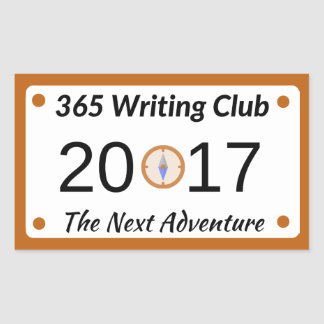 365 Writing Club Stickers! Rectangular Sticker