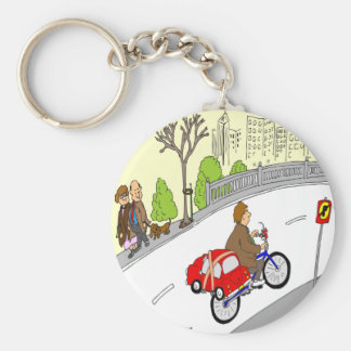 368 smart car bike rack cartoon basic round button key ring