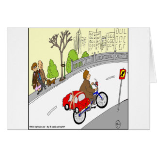 368 smart car bike rack cartoon card