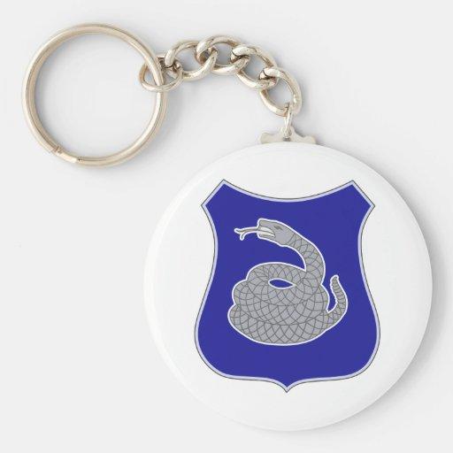 369th Infantry Regiment Basic Round Button Key Ring