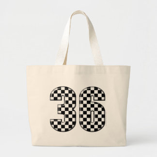 36 auto racing number tote bag