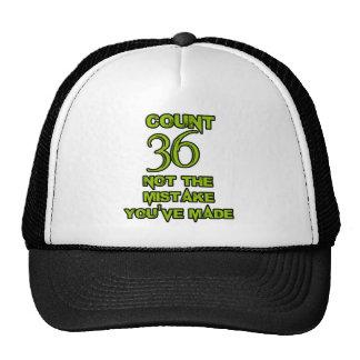 36 birthday design cap