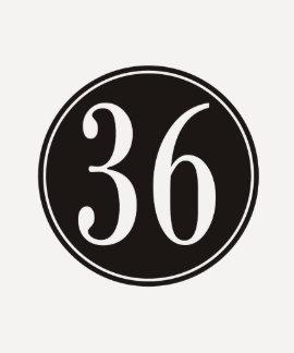 #36 Black Circle T Shirts