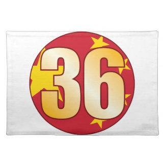 36 CHINA Gold Placemat