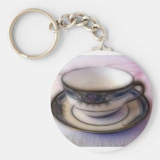 36 - Clouded Demitasse Basic Round Button Key Ring