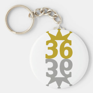 36-Crown-Reflection Key Ring