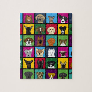 36 dogheads jigsaw puzzle