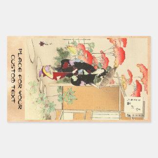 36 Examples of Beauties, Tea ceremony Toshikata Rectangular Sticker