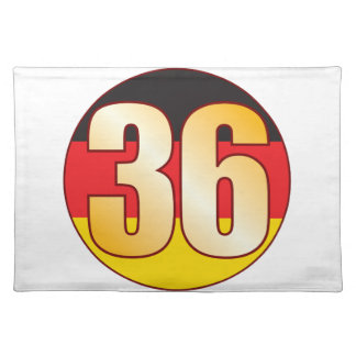 36 GERMANY Gold Placemat