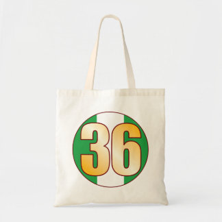 36 NIGERIA Gold Tote Bag