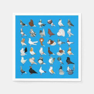 36 Pigeon Breeds Disposable Napkin
