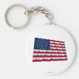 36-star flag, Global pattern Basic Round Button Key Ring