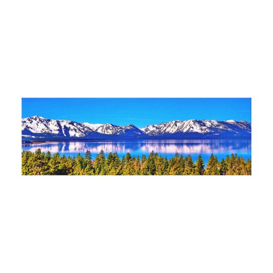 36 X 12 BEAUTIFUL LAKE TAHOE WRAPPED CANVAS
