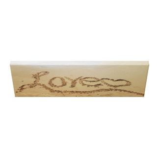"36"" x 12"" Canvas Print Love Written In the Sand"