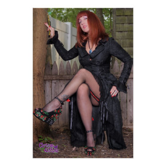 """36"""" x 24"""" Chrissy Kittens Witch In The Woods Poster"""