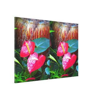 """36"""" x 24"""" Wrapped Canvas Flowers Floral USA Canvas Prints"""