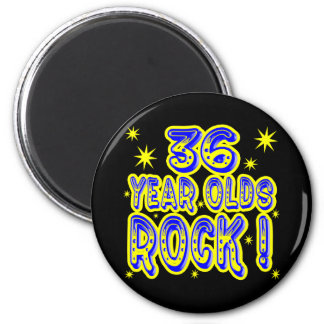 36 Year Olds Rock! (Blue) Magnet