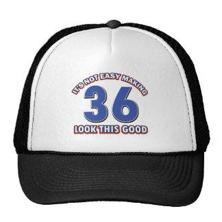 36 years Old birthday designs Trucker Hat