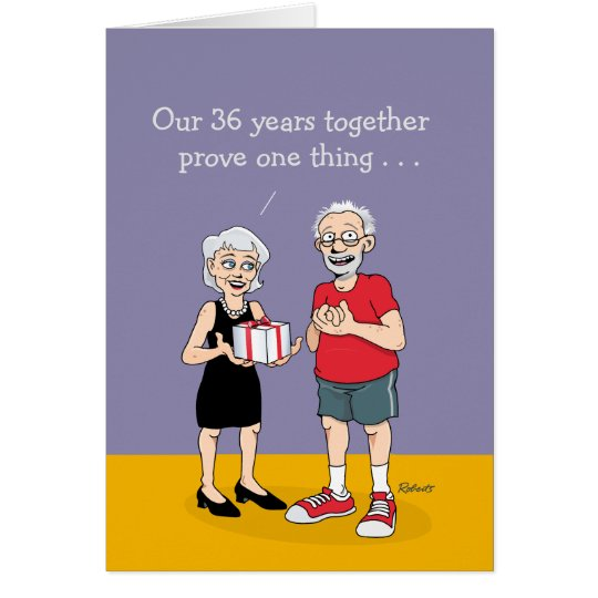 36th Anniversary Card for Husband