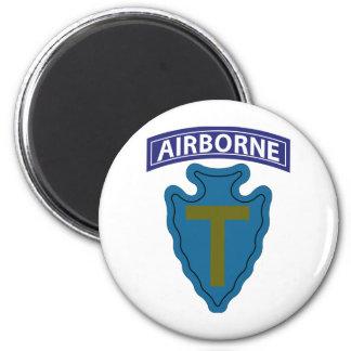 36th Infantry Division - Airborne 6 Cm Round Magnet