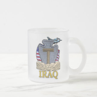 36th infantry division veterans iraq vets frosty M Frosted Glass Mug