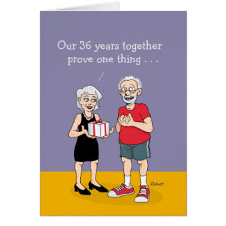 36th Wedding Anniversary Gift For Husband : Anniversary Humor Greeting Card Zazzle - valentineblog.net