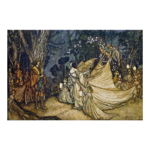 36x24 Argument of Oberon and Titania Poster