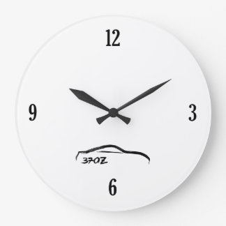 370Z Black Brushstroke Logo Wall Clock