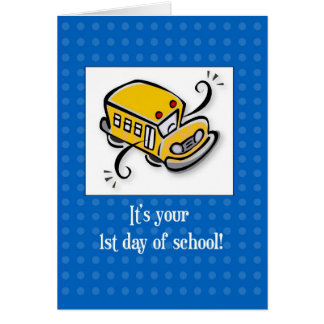 3721 First Day of School Greeting Card