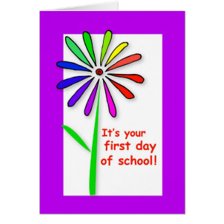 3722 First Day of School Flower Greeting Card