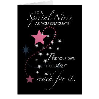 3730 Niece Graduation Star Greeting Card