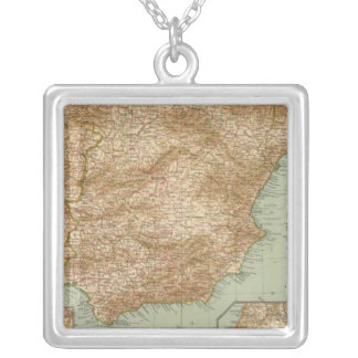 3738 Spain, Portugal Silver Plated Necklace