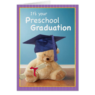 3746 Preschool Graduation Greeting Card