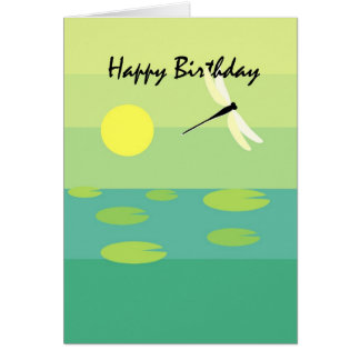 3749 Dragonfly Birthday Card