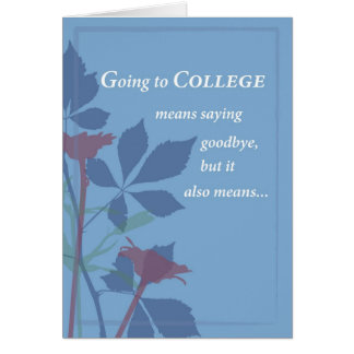 3757 Going to College Goodbye Card