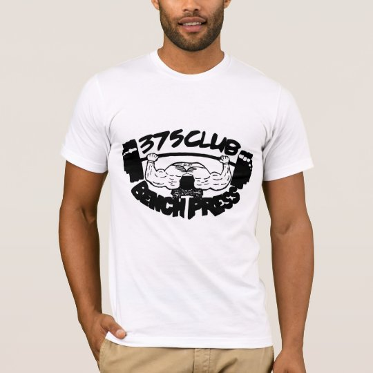 375 Club Bench Press Fitted T Shirt