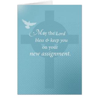 3768 Priest New Assignment, Spirit on Cross Card