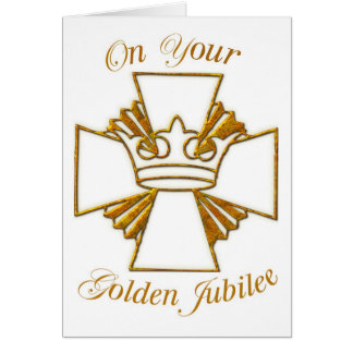 3773 Golden Jubilee of Religious Life Card