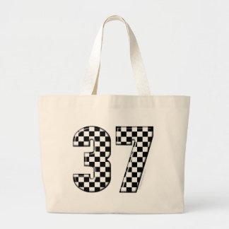 37 auto racing number jumbo tote bag