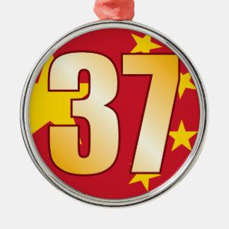 37 CHINA Gold Christmas Ornament